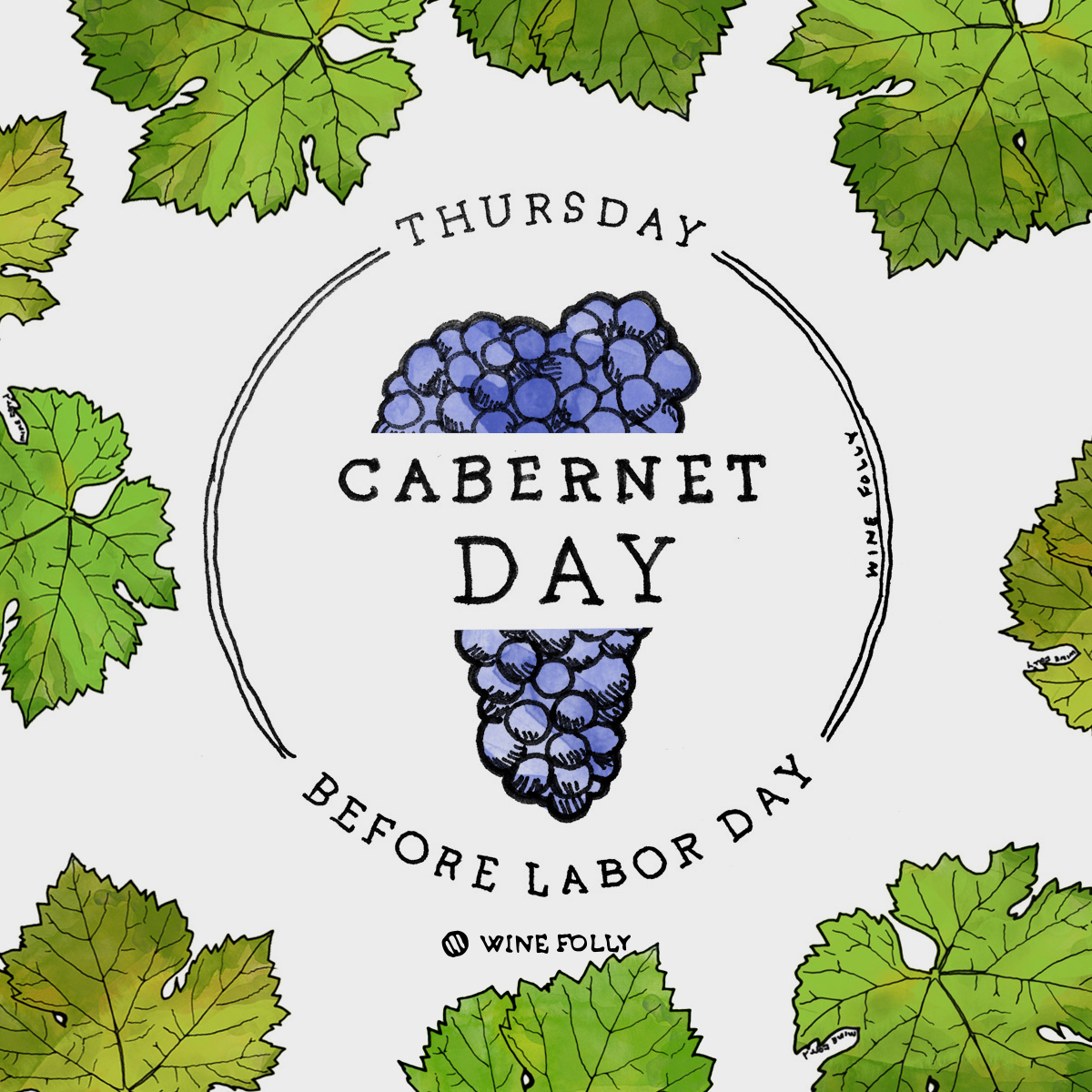 An illustration for Cabernet Day.