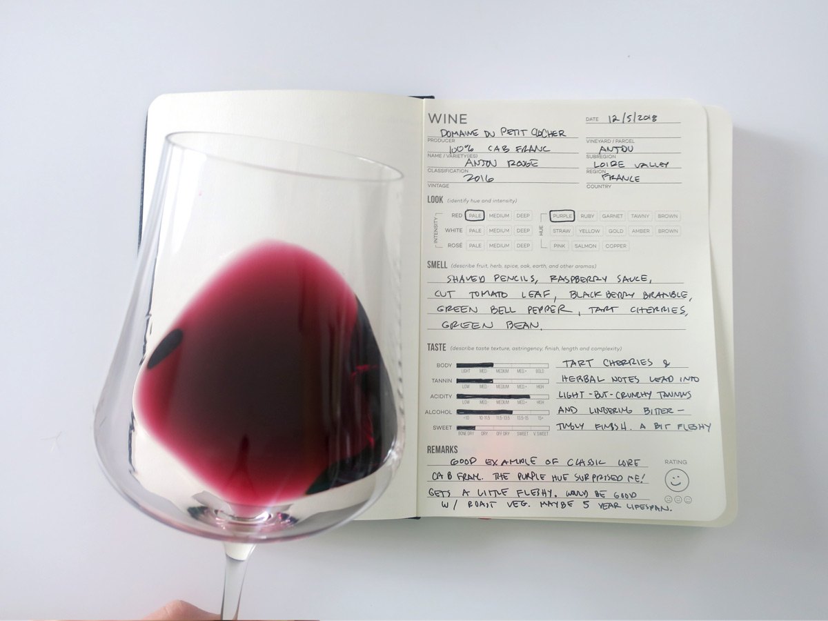 Cabernet Franc from Anjou in the Loire Valley Tasting Journal Notes - Wine Folly