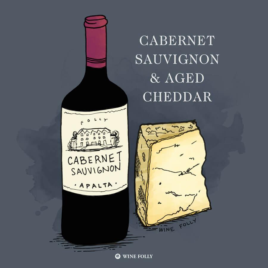 cabernet-sauvignon-cheese-pairing-aged-cheddar