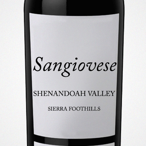 California Sangiovese taste profile compared to Italian Sangiovese
