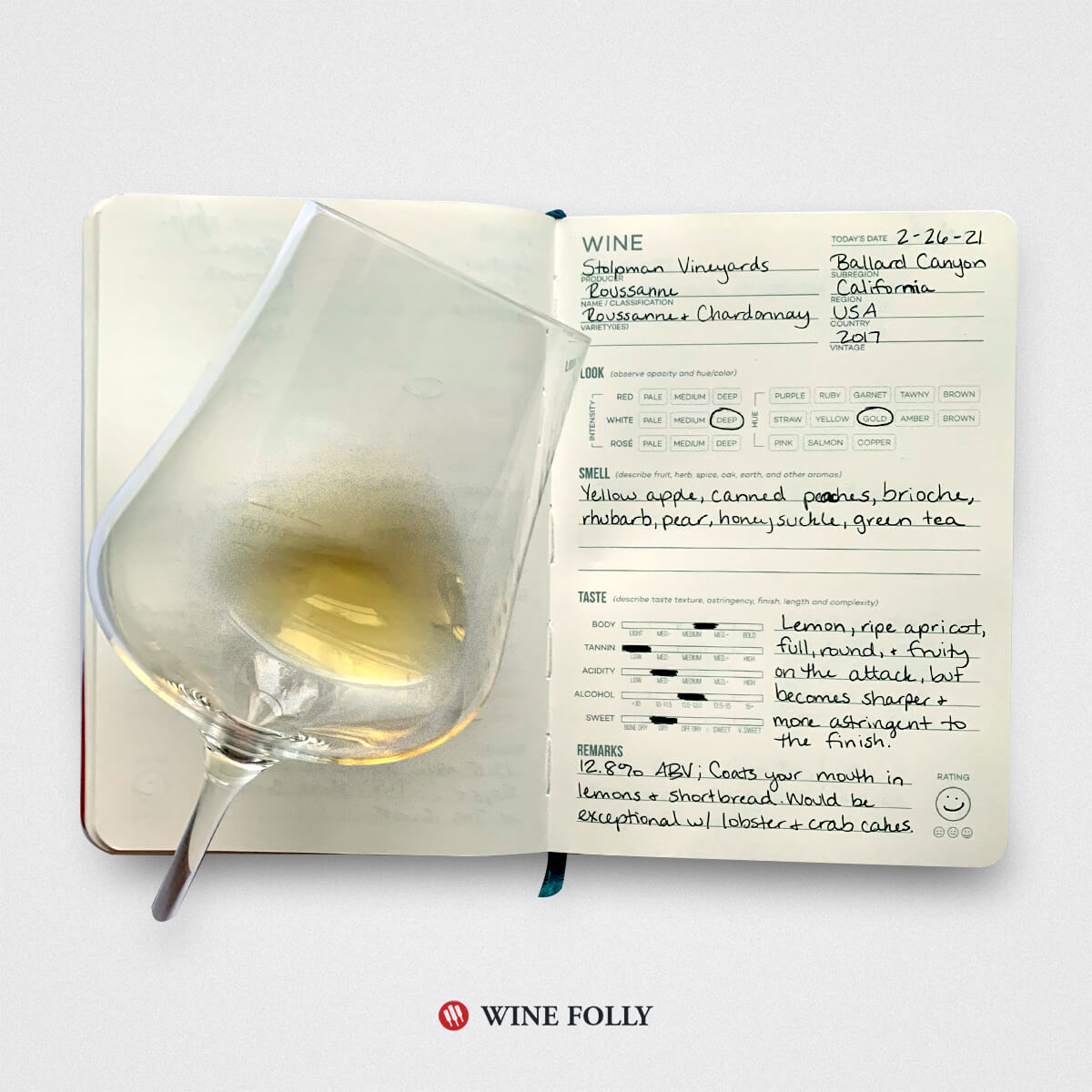 california-roussane-blend-tasting-notes-wine-journal