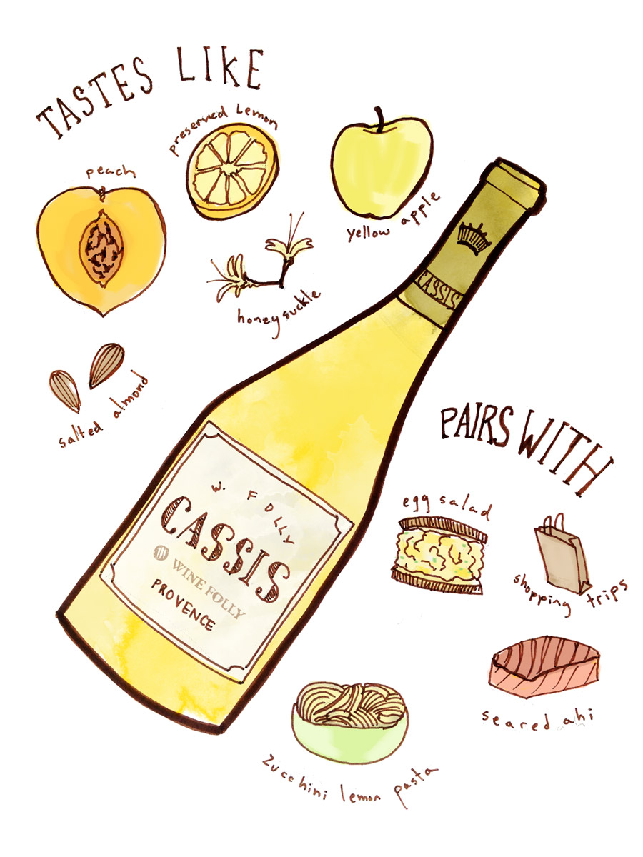 Cassis Wine Taste profile from Provence - illustration by Wine Folly