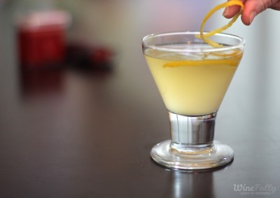 A sidecar is a classic brandy cocktail