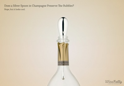 A Champagne Spoon by Ruinart to Preserve Bubbles