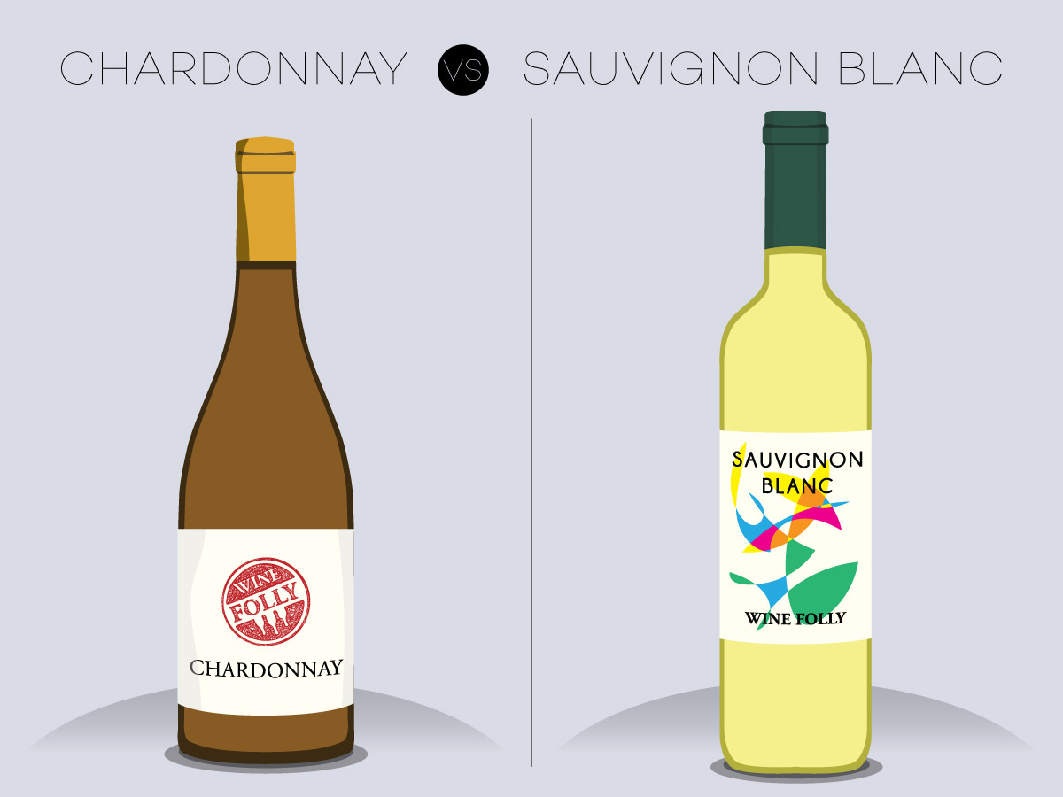 Chardonnay vs. Sauvignon Blanc Wine