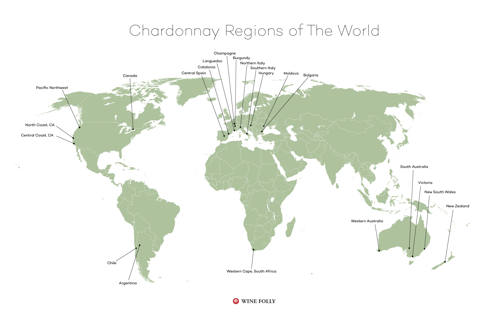 Chardonnay wine regions of the world