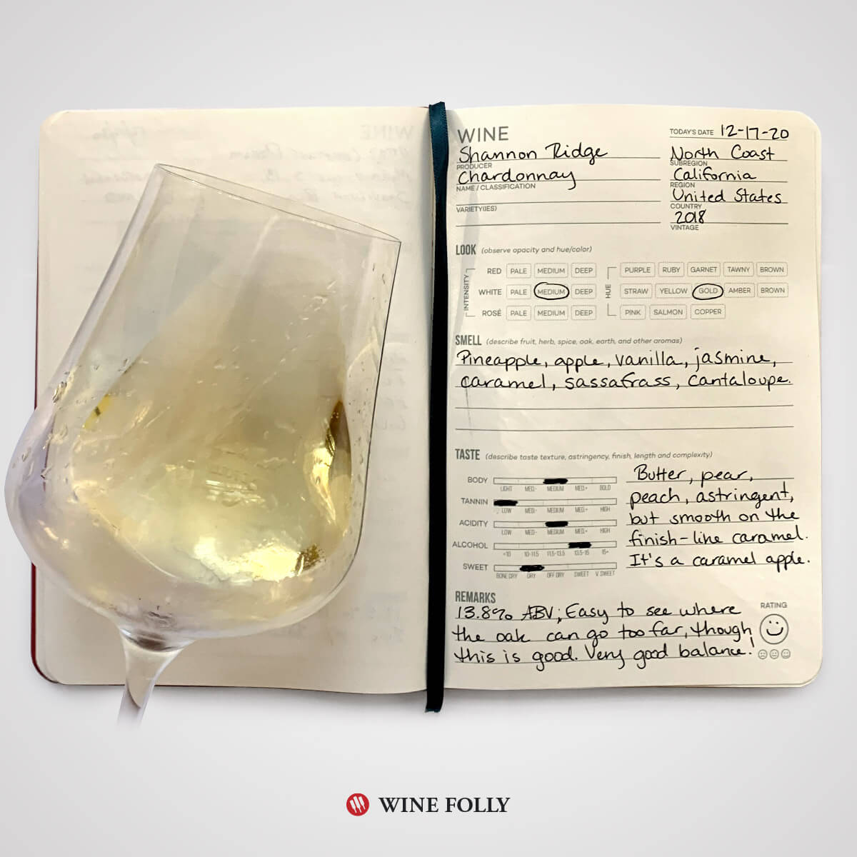 chardonnay-wine-tasting-notes-journal