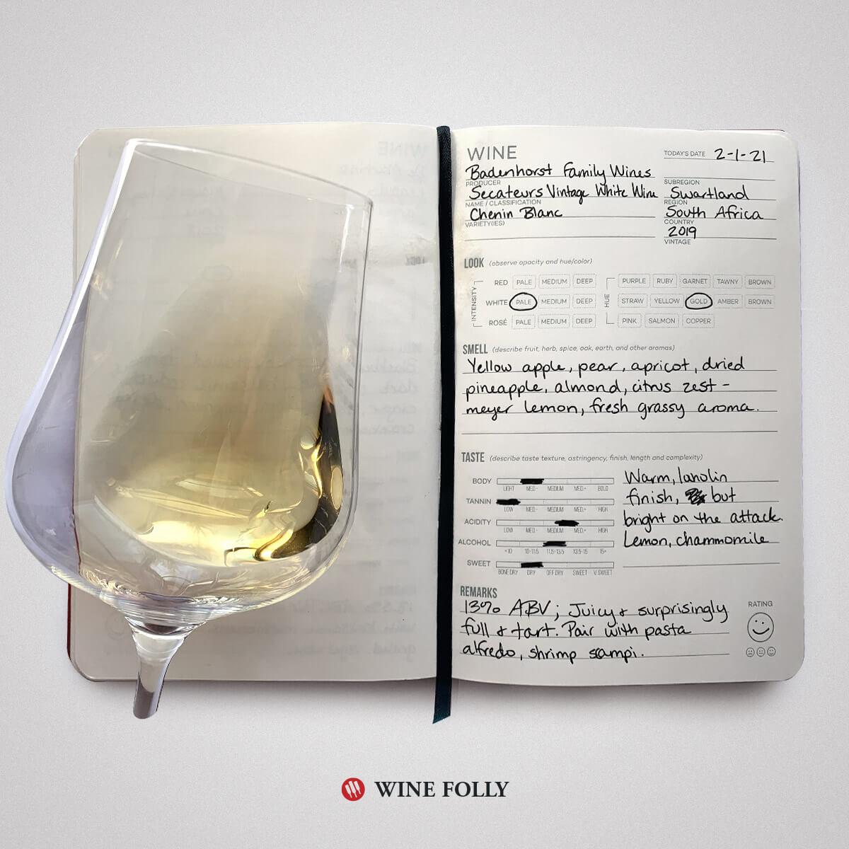chenin-blanc-wine-tasting-notes-journal