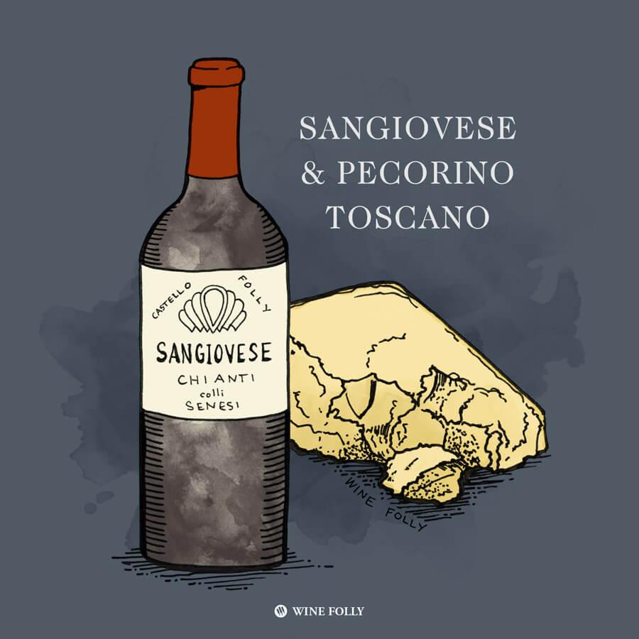 chianti-sangiovese-wine-pairing-pecorino-cheese