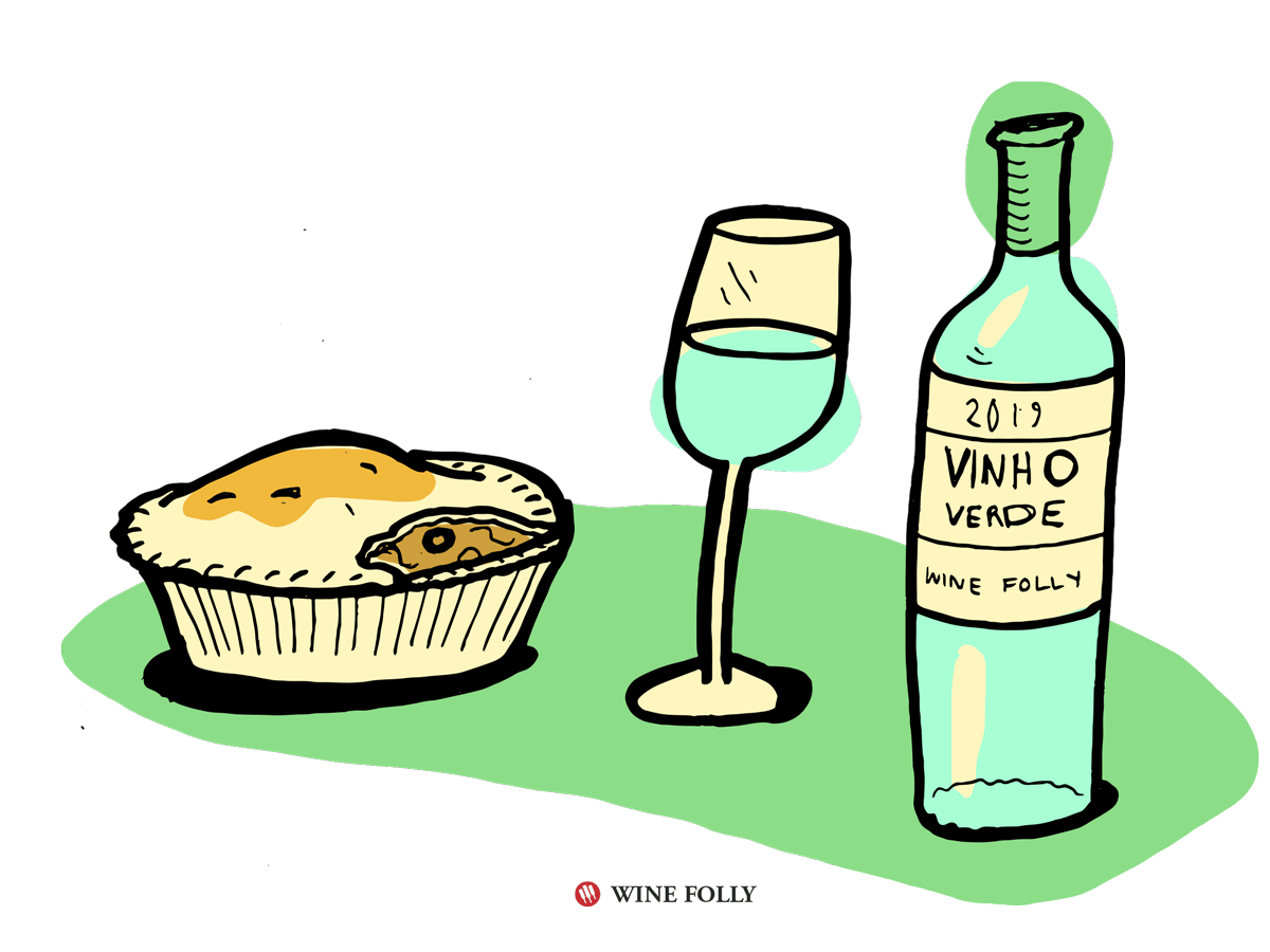 Chicken Pot Pie Pairs Well with Vinho Verde Wine and Grüner Veltliner