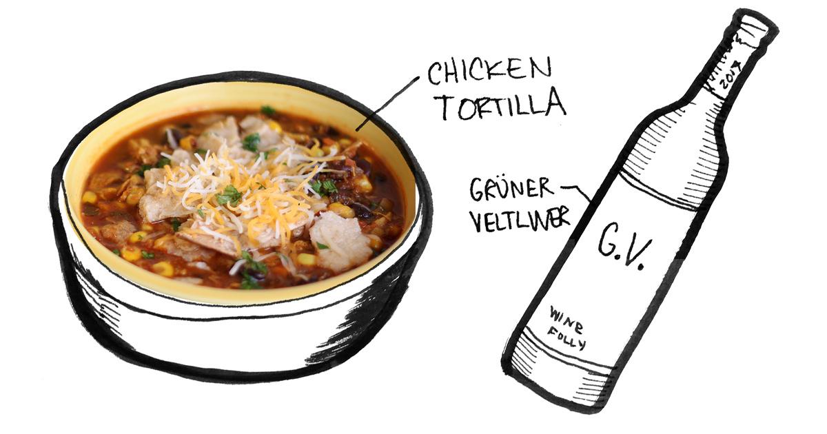 chicken-tortilla-gruner-soup-pairing-winefolly-illustration