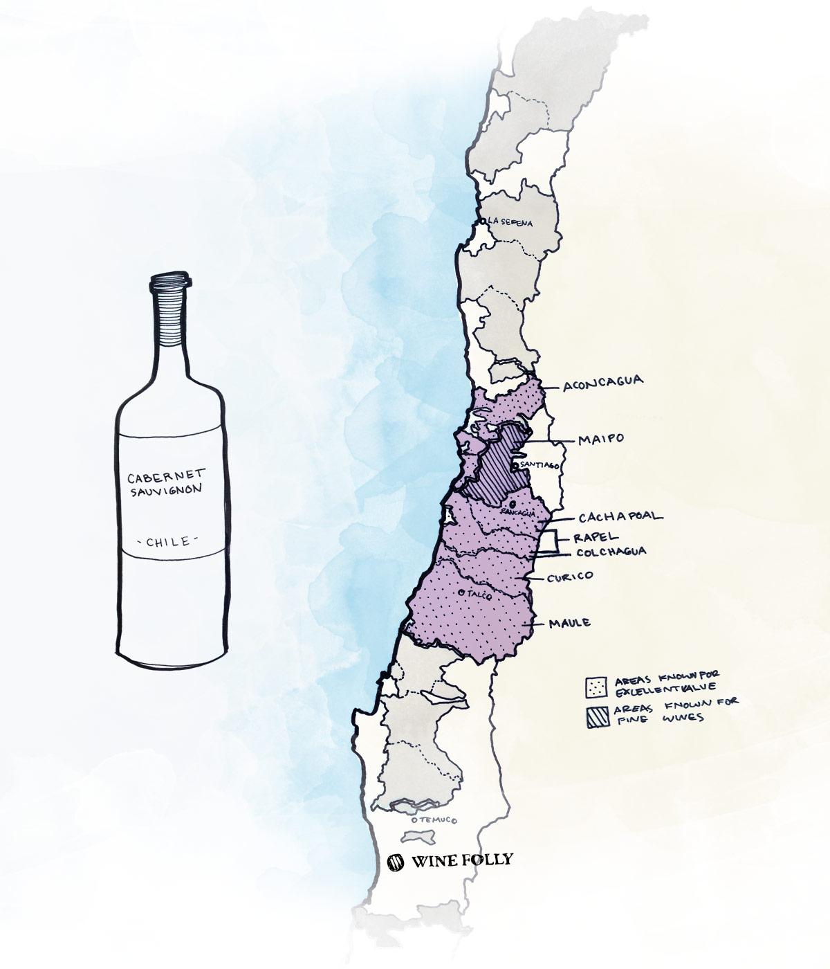 Chilean Cabernet Sauvignon Best wine regions to look