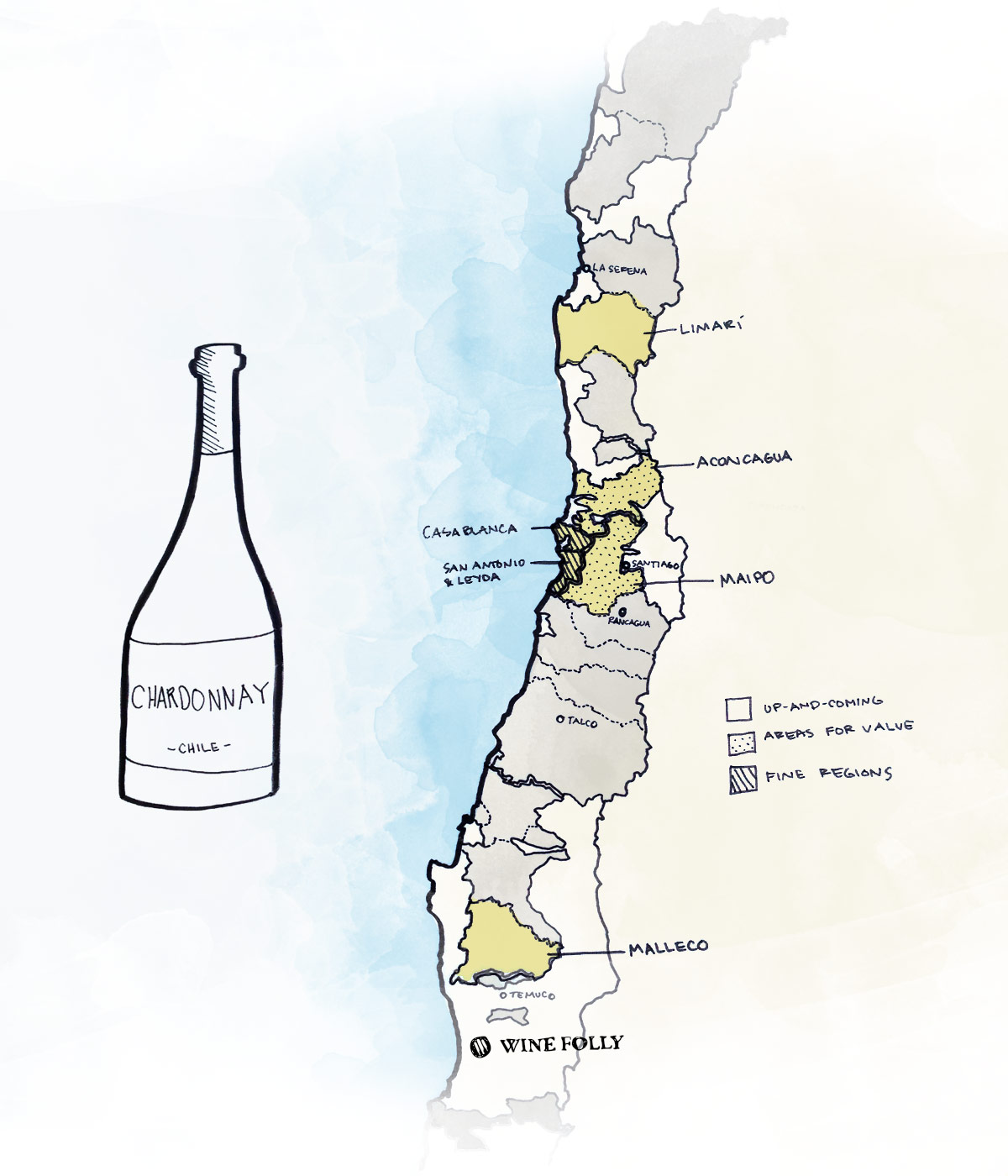 Best wine regions to look for Chilean Chardonnay