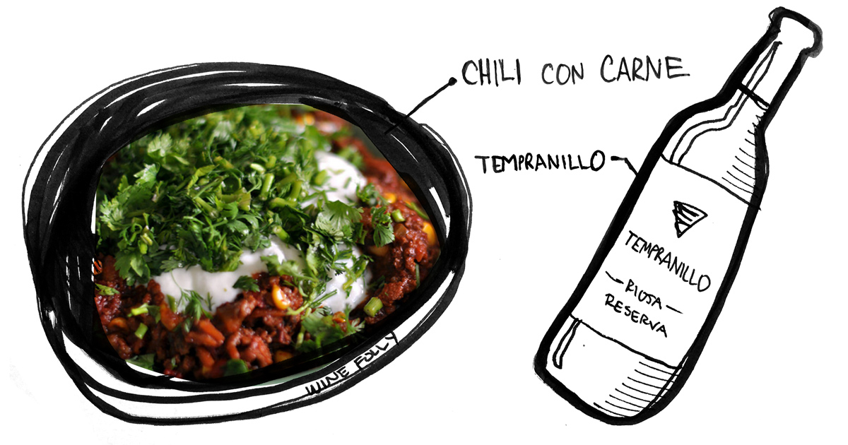 chili-con-carne-tempranillo-pairing-winefolly-illustration