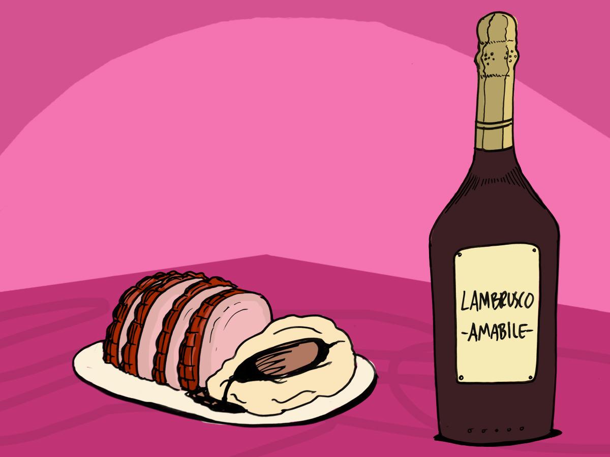 christmas-ham-food-pairing-wine-lambrusco