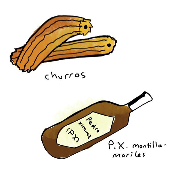 churros-cinnamon-sugar-pedro-ximinez-wine-pairing