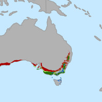 Change in areas suitable for growing wine grapes through 2050 in Australia. by conservation.org