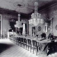 Presidential State Dinners in the Cleveland Dining Room circa 1893