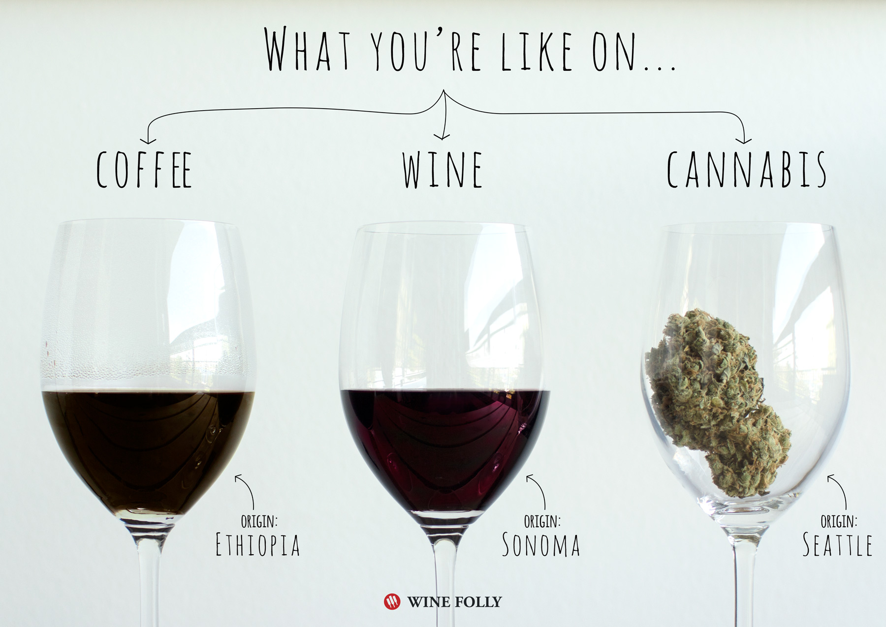 Coffee vs Wine vs Cannabis