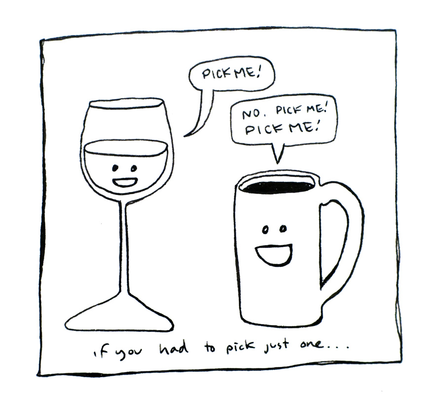 Coffee or wine?