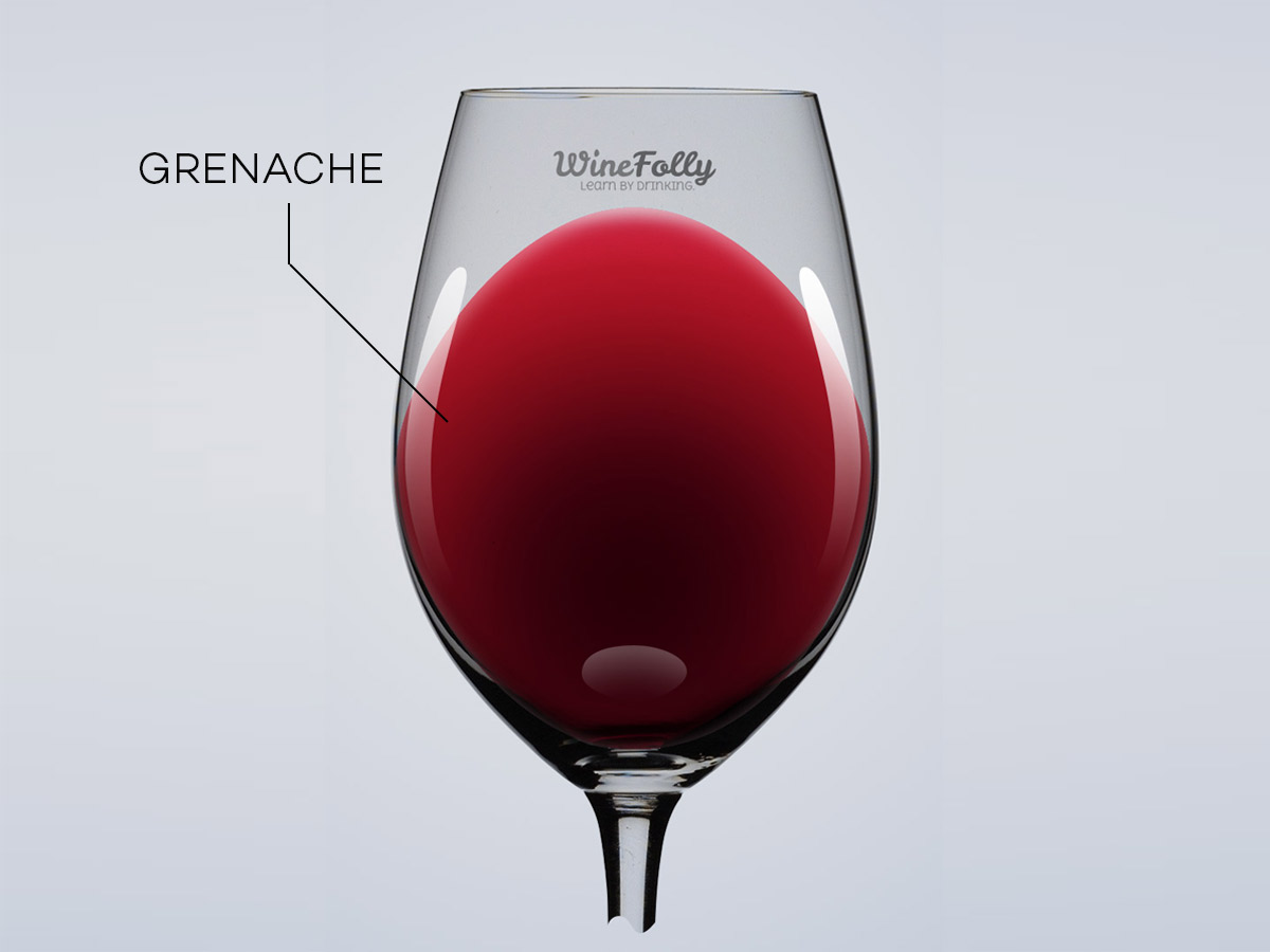 color of grenache garnacha light red wine
