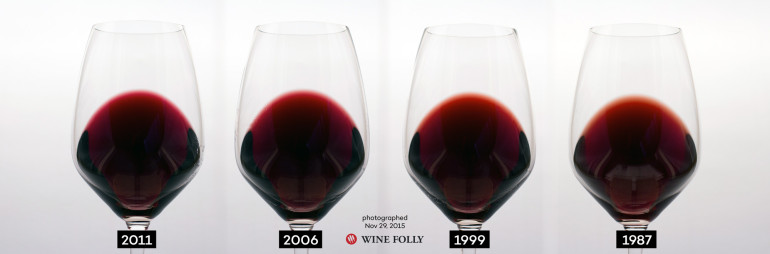 Merlot Color as it changes with age by Wine Folly