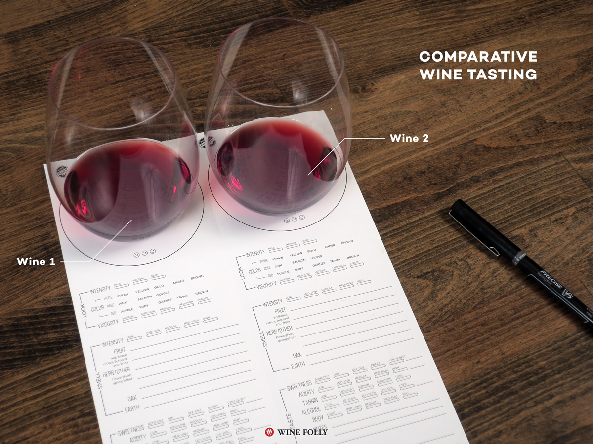 Comparative Wine Flight Ideas