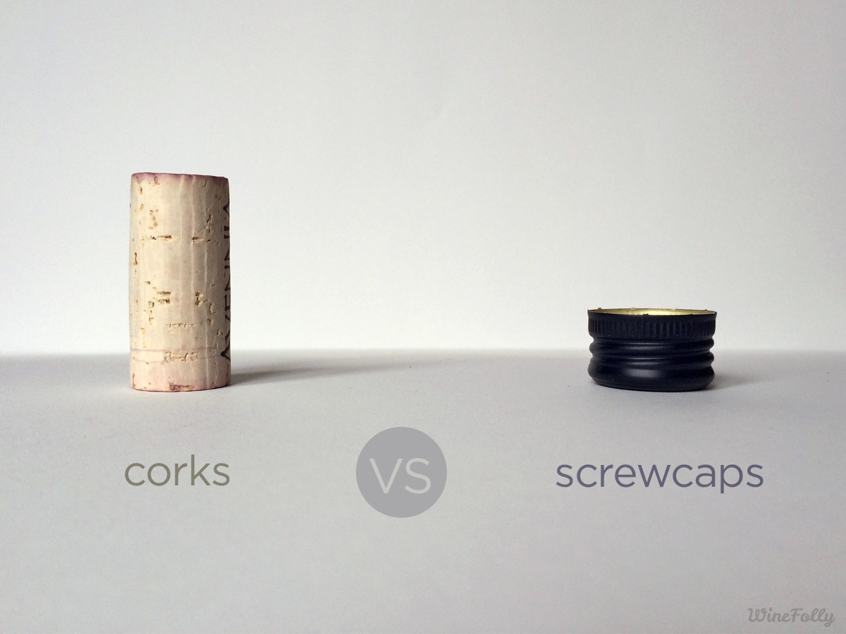 corks vs screw caps pros and cons