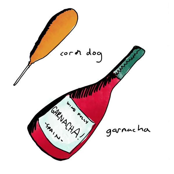 corndog-and-garnacha-wine