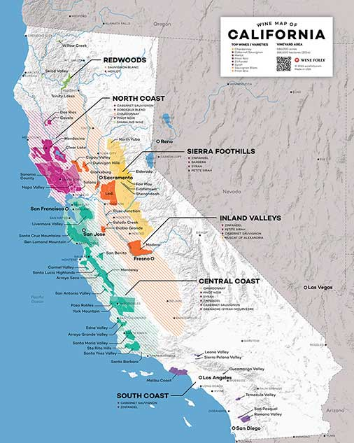 The Wines of California Map