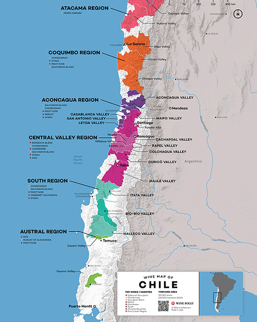 The Wines of Chile Map
