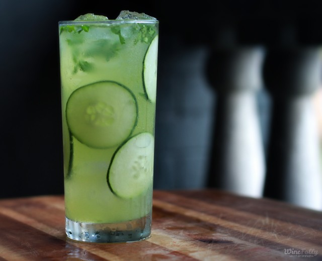 Wine Cocktails: Mint and Cucumber Fume Blanc Cocktail