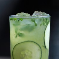 wine cocktails made savory style with cucumber water