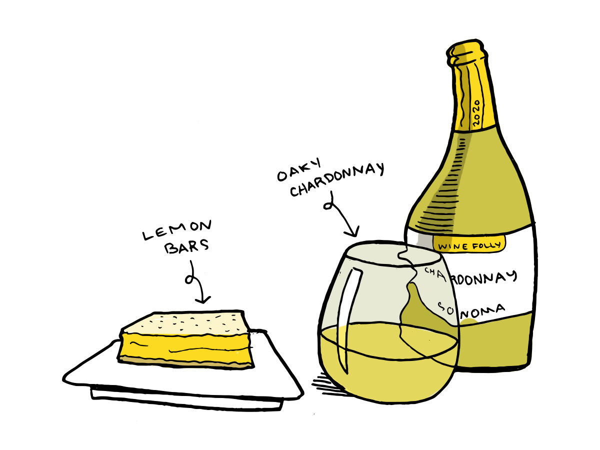 chardonnay wine and lemon bars dessert pairing
