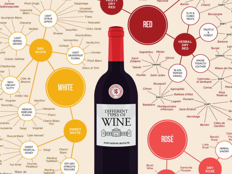 Different types of wine infographic by Wine Folly
