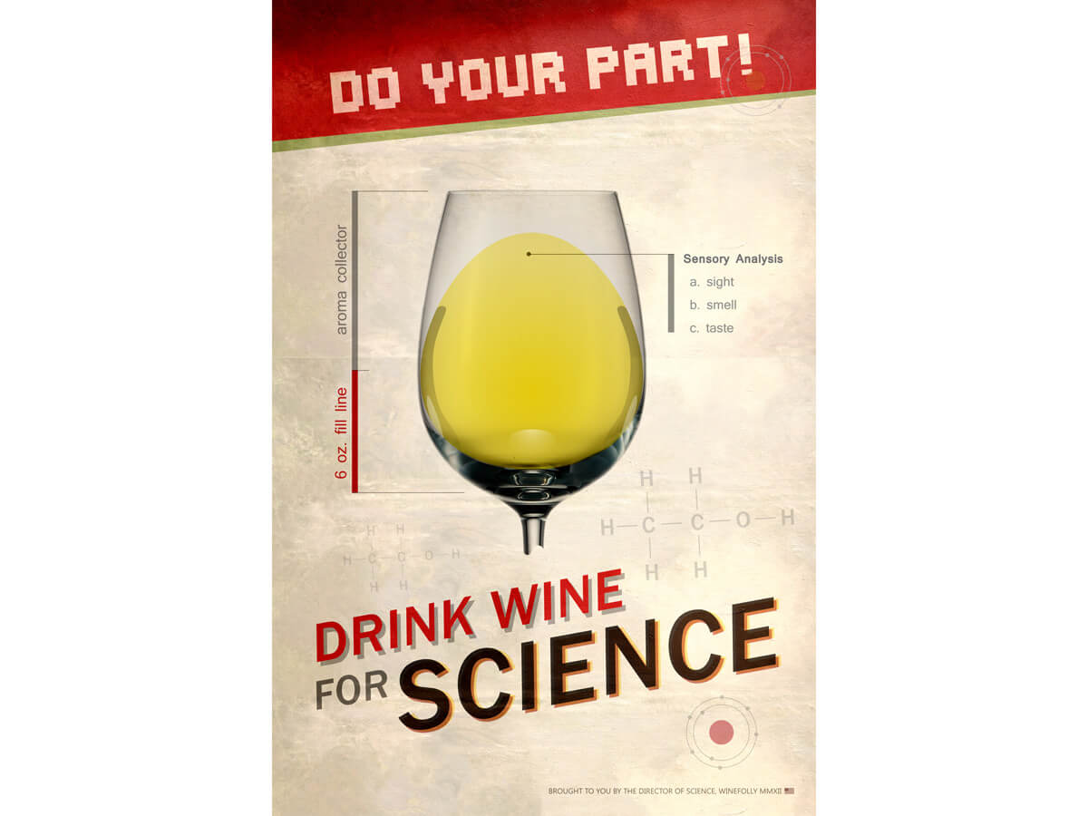Drink Wine for Science Poster by Wine Folly - original 2012