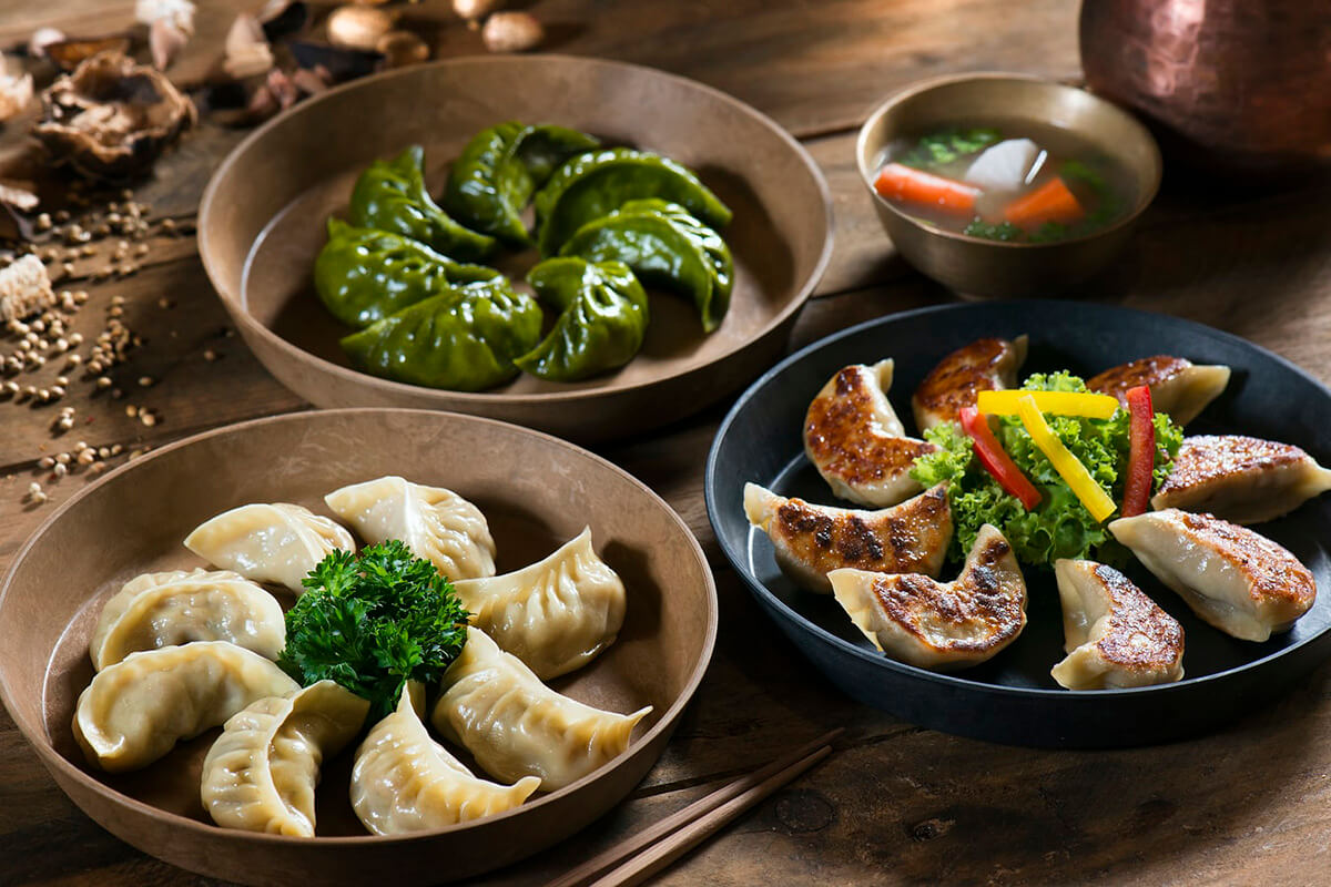 Various styles of dumplings.