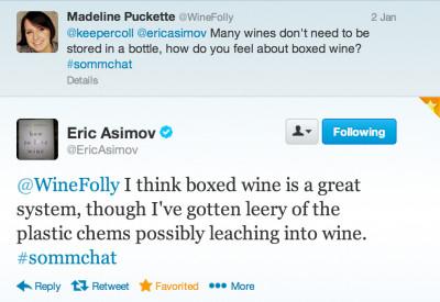 Eric Asimov on twitter