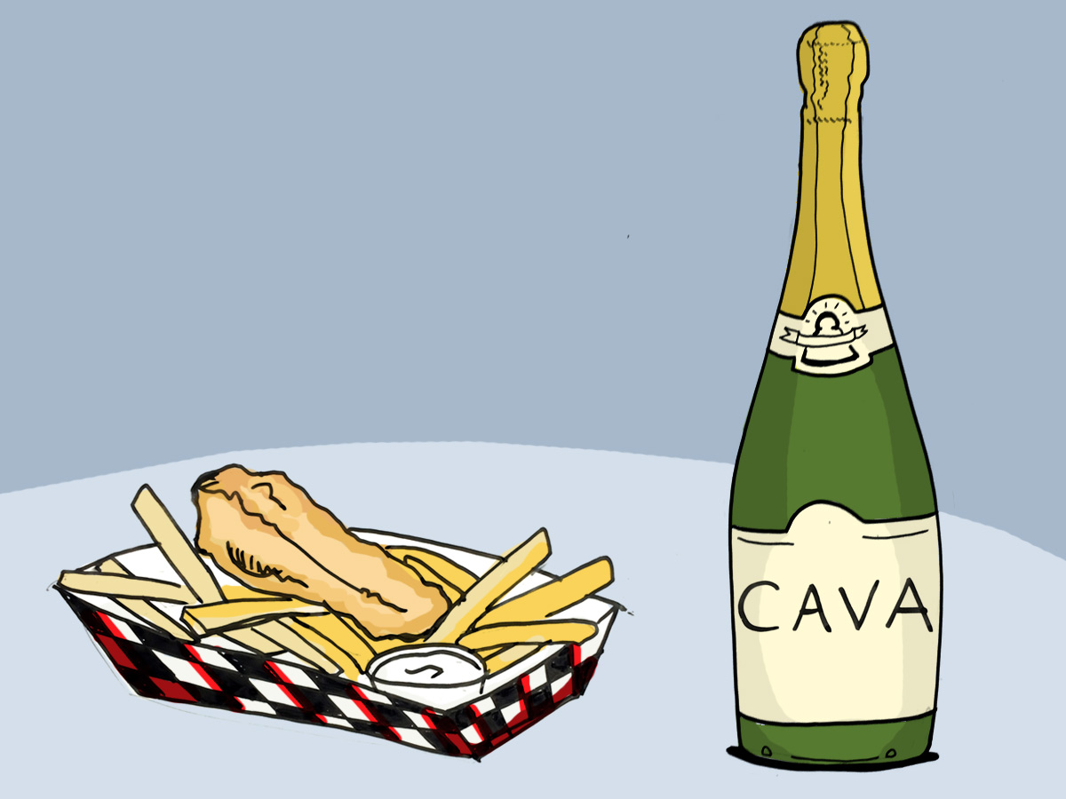 fish-and-chips-with-cava-wine