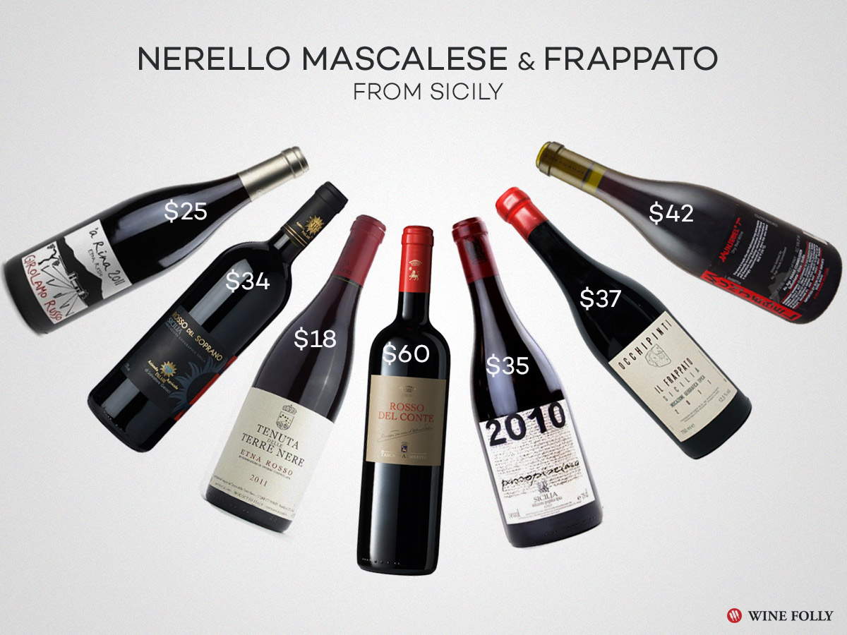 frappato and nerello mascalese wines great sicily red wines