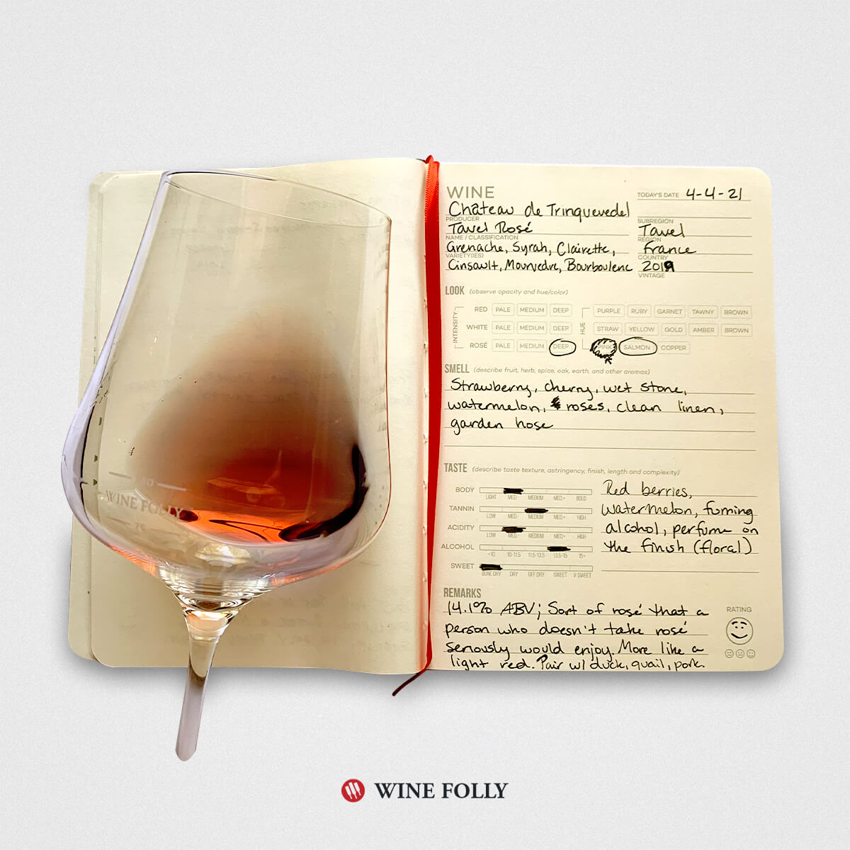 french-tavel-rose-tasting-notes-wine-journal