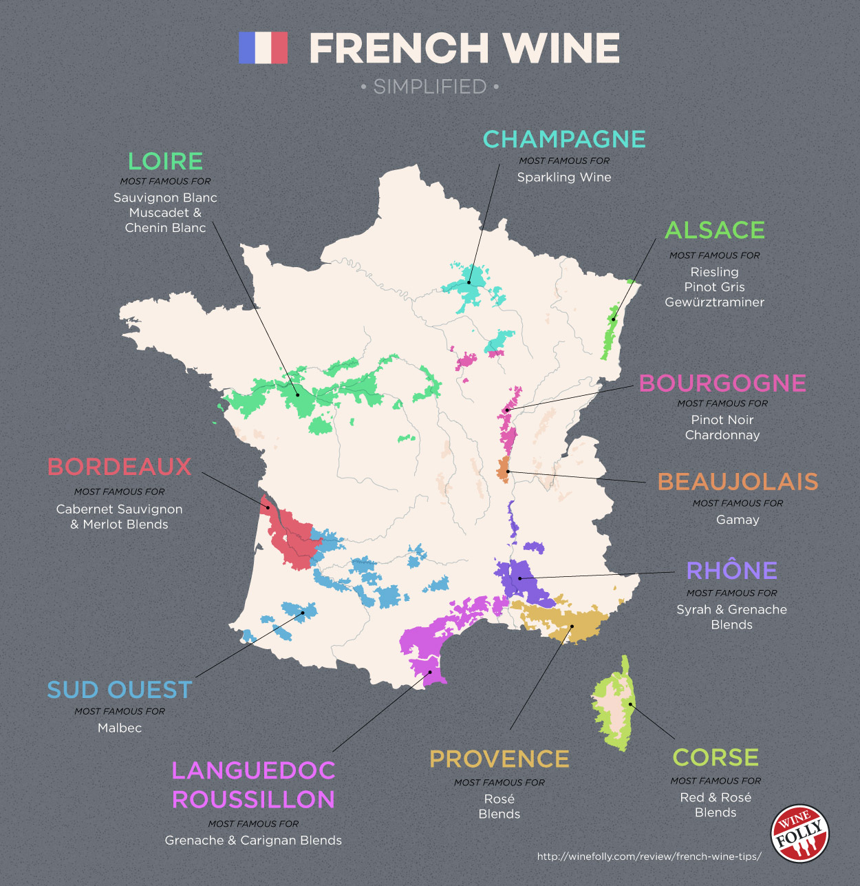 Map Of France South.The Wines Of South West France Map Wine Folly