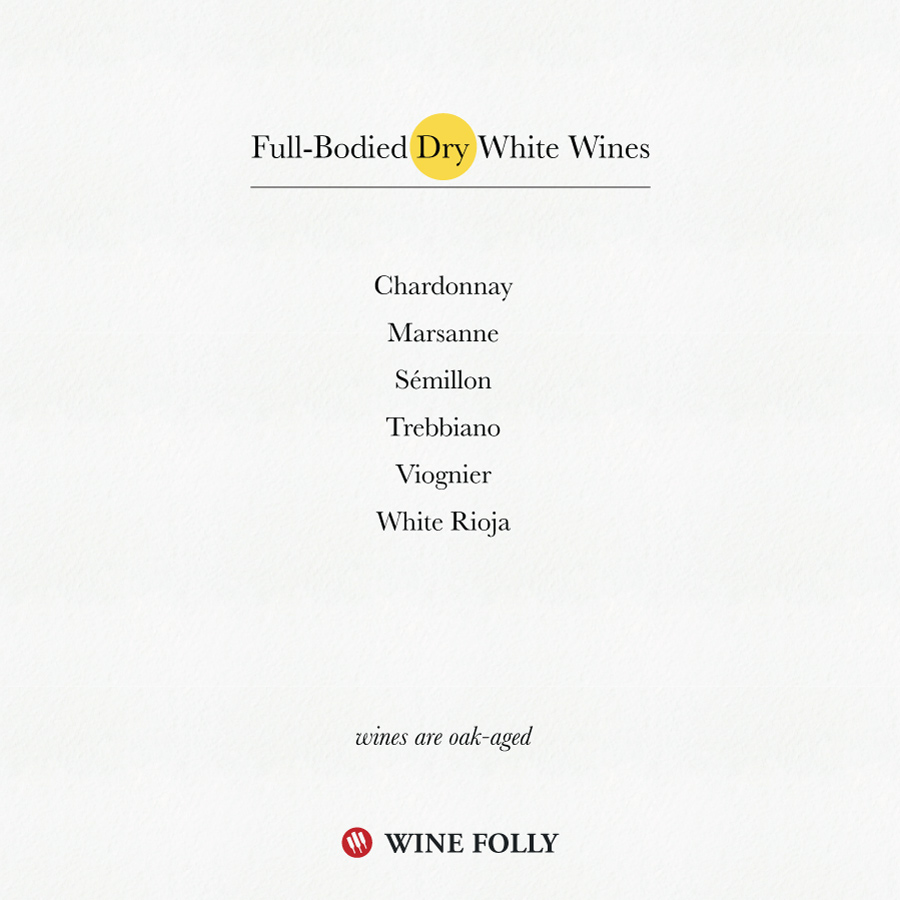 Full-Bodied Dry White Wines