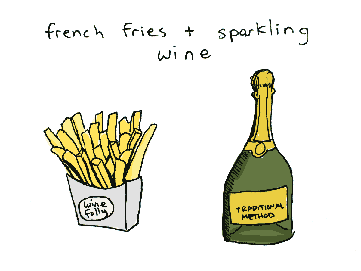 Pairing wine with French Fries