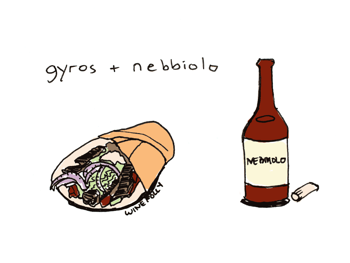 Pairing wine with Gyros and greek food