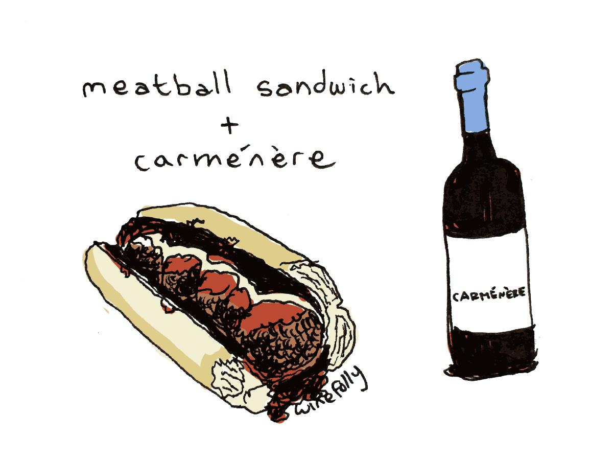 meatball sandwich wine pairing