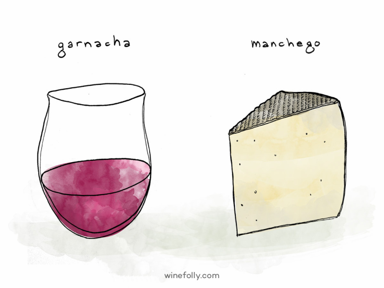 Garnacha and Manchego Cheese