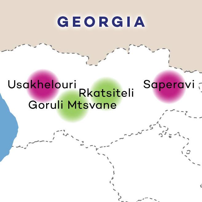 Republic of Georgia Wines on map