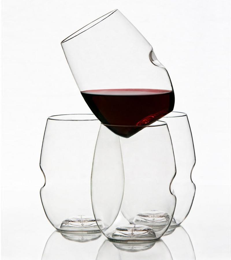 Portable plastic wine glasses