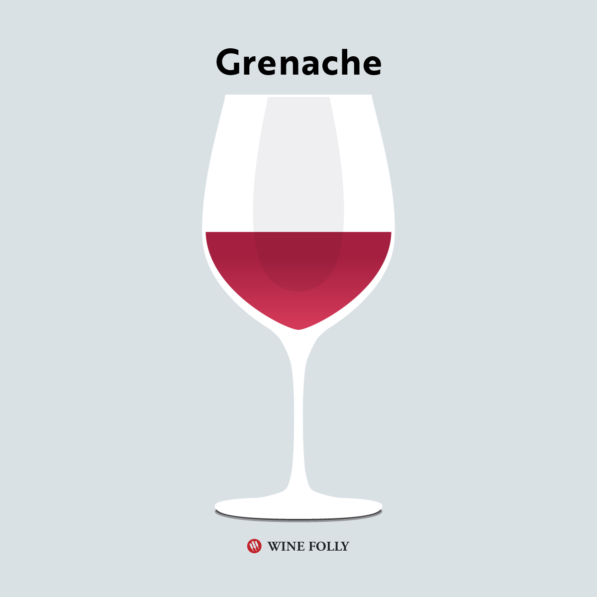 Grenache in a aroma collector wine glass by Wine Folly